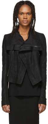 Rick Owens Black Leather Classic Biker Jacket