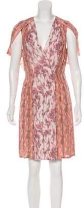 Zac Posen Silk Printed Dress