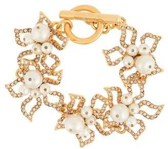 Oscar de la Renta faux-pearl embellished bracelet