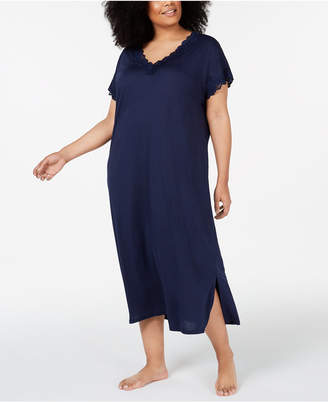 101cc4137169 Charter Club Plus-Size Lace-Trimmed Soft Knit Nightgown