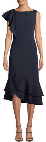 Shoshanna Amurra One-Shoulder Dress