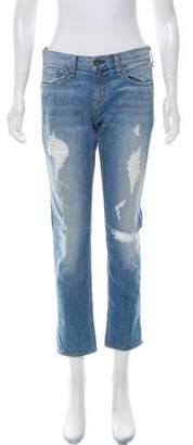 Rag & Bone The Dre Distressed Mid-Rise Jeans