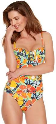 M&Co Hawaiian print tummy control multiway swimsuit