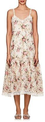 Pero Women's Floral Cotton-Silk Midi-Dress