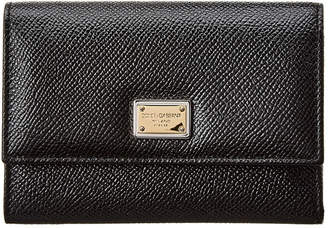 Dolce & Gabbana Dauphine Leather Snap Wallet