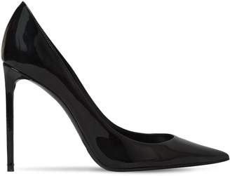 Saint Laurent 105mm Zoe Patent Leather Pumps
