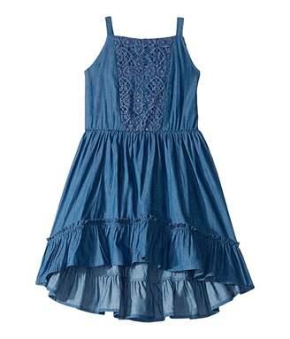 BCBGMAXAZRIA Girls Lightweight Denim w/ Lace Inserts (Toddler/Little Kids)