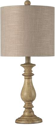 Traditional Distressed Finish Table Lamp
