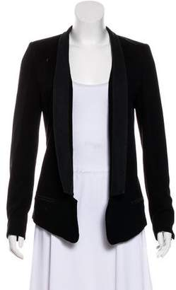 Robert Rodriguez Leather-Trimmed Blazer