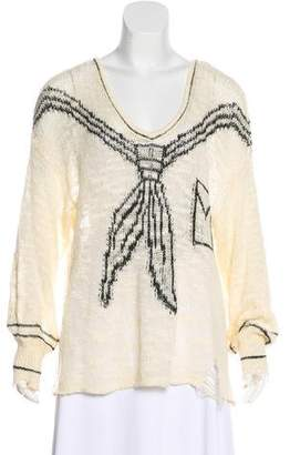 Wildfox Couture Patterned Open Knit Sweater