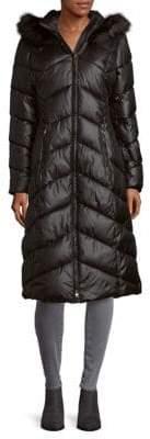 Gallery Faux Fur Hood Puffer Coat