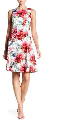 Chetta B Floral Printed Dress