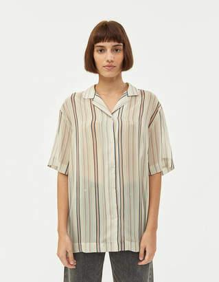 Need Francis Shirt in Sheer Khaki Stripe