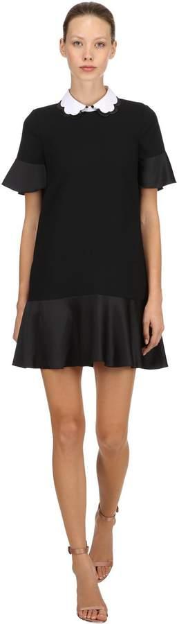 Short Sleeve Dress W/ Scalloped Collar