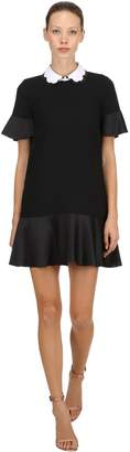 RED Valentino Short Sleeve Dress W/ Scalloped Collar