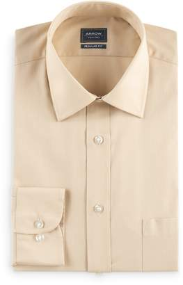 Arrow Mens Regular-Fit Solid Textured Dress Shirt