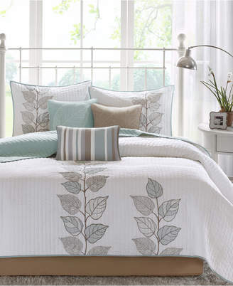 Madison Park Caelie 6-Pc. Quilted Queen Coverlet Set Bedding