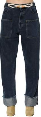 J.W.Anderson Denim Jeans W/ Toggle Details
