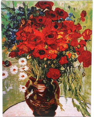 Charlton Home 'Daisies & Poppies' by Vincent Van Gogh Painting Print on Wrapped Canvas