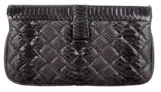 Bottega Veneta Large Python Clutch