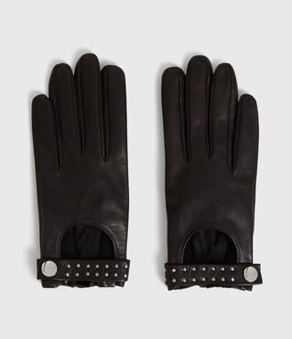 AllSaints Stud Driver Leather Gloves
