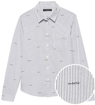 Banana Republic Quinn-Fit Merci Stripe Shirt
