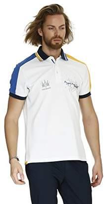 Galvanni Men's Kiana Polo Shirt, (White Multi 1022), XXX-Large