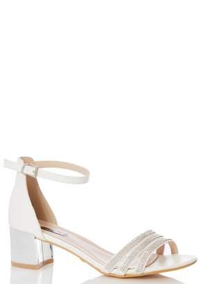 Dorothy Perkins Womens *Quiz Bridal Diamante Strap Heeled Sandals