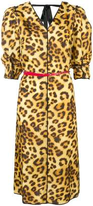 Marc Jacobs leopard print midi dress