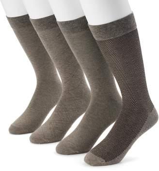 Dockers Men's 4-pack Herringbone & Solid Dress Socks