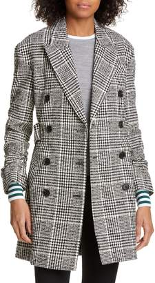 Veronica Beard Augusta Check Cotton Blend Coat