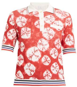 Stella Jean - Geometric Intarsia Short Sleeved Sweater - Womens - Red