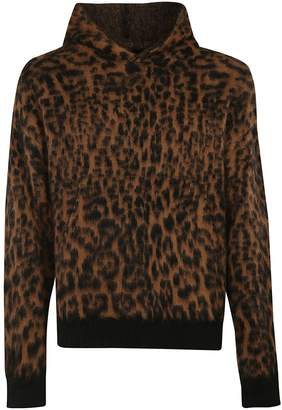 Laneus Leopard Pattern Hoodie