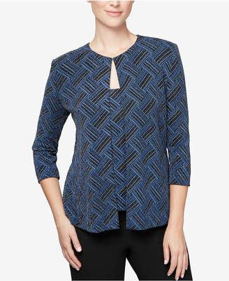 Alex Evenings Printed Jacket & Top
