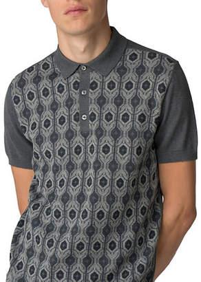 Ben Sherman Birdseye Jacquard Knit Cotton Polo