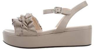 Fabiana Filippi Leather Wedge Sandals