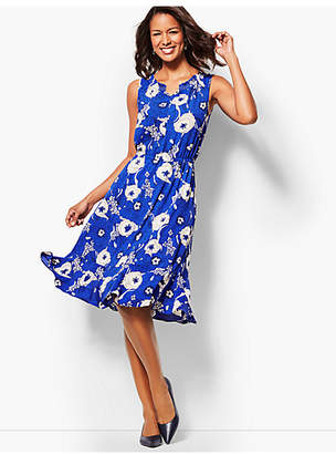 Talbots Floral Breeze Fit & Flare Dress