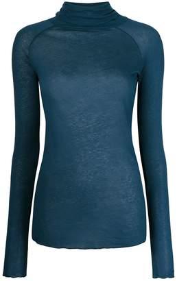 Humanoid roll neck raglan long sleeve top