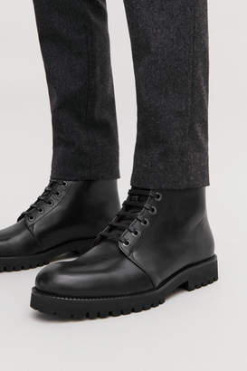 Cos LACE-UP LEATHER BOOTS