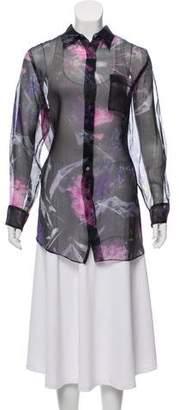 Acne Studios Silk Floral Blouse
