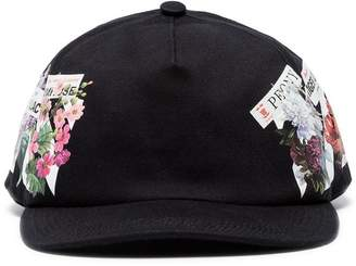 Off-White black floral cotton baseball cap