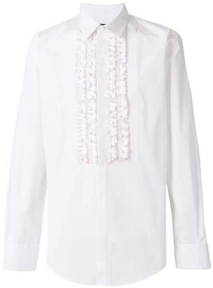 DSQUARED2 ruffled bib shirt