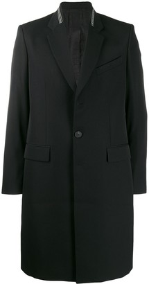 Givenchy branded lapel single breasted coat
