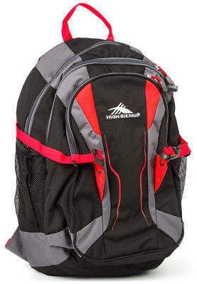High Sierra NEW Crawler Black & Red Backpack