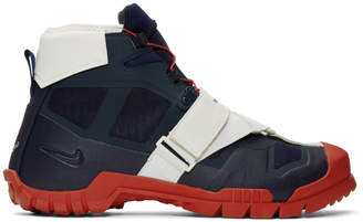 Nike Navy and Red Undercover Edition SFB Mountain Sneakers