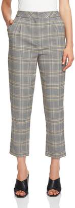 1 STATE 1.STATE Menswear Plaid Taper Ankle Pants