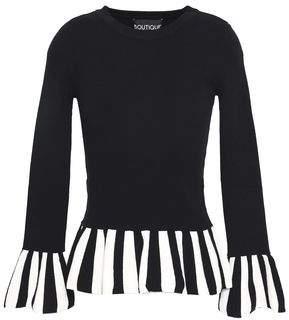 Moschino Striped Stretch-Knit Top