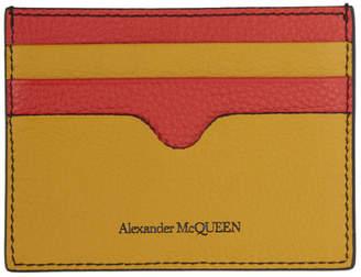 Alexander McQueen Multicolor Sunflower Card Holder