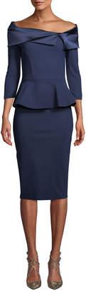 Chiara Boni Sansirai Body-Con Peplum Dress