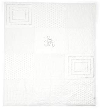 Mamas and Papas Coverlet, Cotbed/Cot, Patchwork White, Nursery Bedding